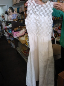 Vintage wedding dress found in an op shop