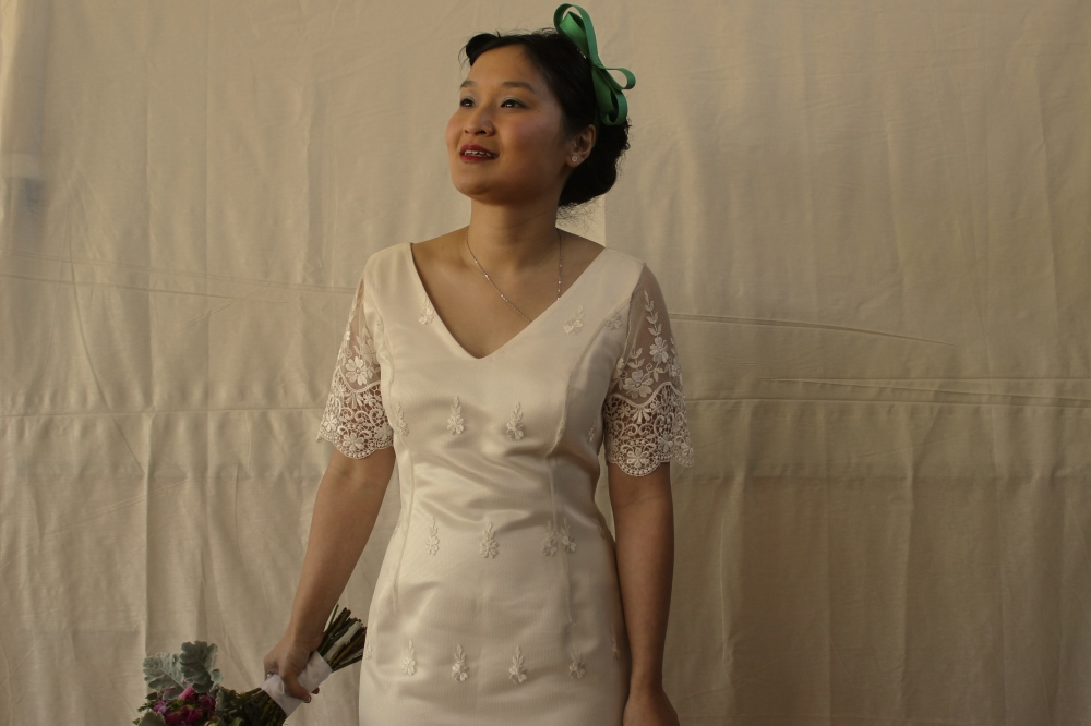 Married in an op-shop dress. Booyah.